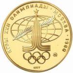Монеты из золота Олимпиада-80