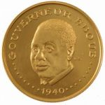 Золотая монета Чада
