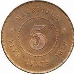 Монеты колонии Маврикий
