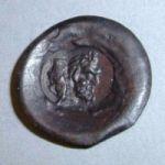 Монета с двумя надчеканками