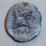 Монета Тиры с головой Тираса