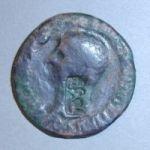 Римская монета с тирской надчеканкой