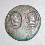 Уникальная монета с надчеканкой Тиры