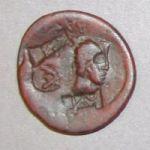 Монета из Тиры с четырьмя надчеканками