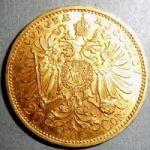 Золотая монета Австро-Венгрии