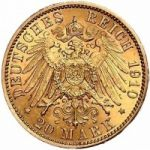 Германия 20 марок 1910 г.