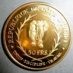 Кот-д'Ивуар. 50 франков 1966