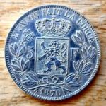 Бельгия. 5 франков 1873