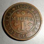 Ангола. 1 макута 1860