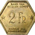 Бельгийское Конго. 2 франка 1943
