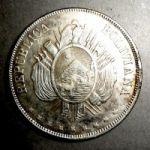 Боливия. 1 боливиано 1874