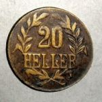 Германская Восточная Африка. 20 геллеров 1916