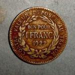 Мартиника. 1 франк 1922