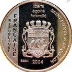 Сен-Пьер и Микелон. 1 1/2 евро 2004 г. 120 $