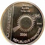 Гваделупа. 1 1/2 Евро 2004 г. 120 $