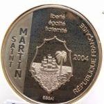 Сен-Мартен. 1 1/2 Евро 2004 г. 120 $