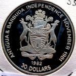 Антигуа и Барбуда. 30 долларов 1982 г. 100 $