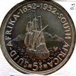 Южная Африка. 5 шиллингов 1952 г. 45 $