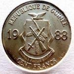 Гвинея. 100 франков 1988 г. 120 $