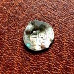 """Четатя-Албэ. Надчеканка """"Крест"""" на джучидском денге. XIII-XIV века"""