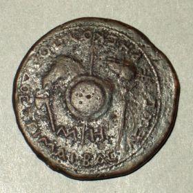 Сестерций Рескупорида II с монограммой