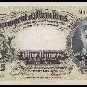 Банкноты колонии Маврикий
