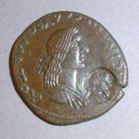 Сестерций Савромата I с клеймом