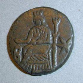 Денарий Котиса III с надчеканкой