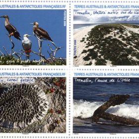 Марки с видами островов Эпарсе