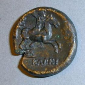 Монета Керкинитиды с богиней Тихе