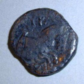 Монета Тиры с монограммой