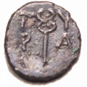 Монета Тиры с Гермесом