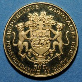 Монета Габона
