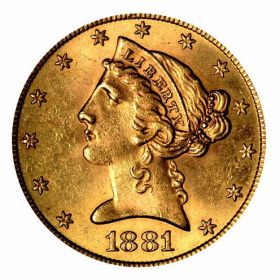 США 5 долларов 1881
