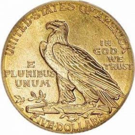 США. 5 долларов 1911 г.