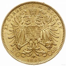 Австрия 20 крон 1895 г.