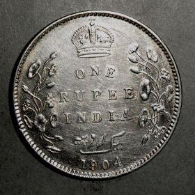 Рупия Индии 1904 г.