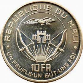 Мали. 10 франков 1960