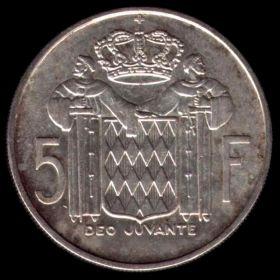 Монако. 5 франков 1960