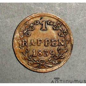 Люцерн. 1 раппен 1839