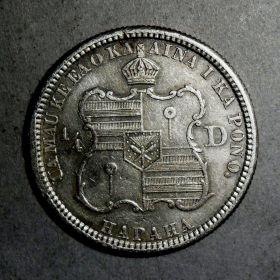 Гавайские Острова. 1/4 доллара 1883