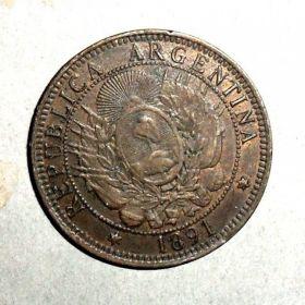 Аргентина. 2 сентаво 1891