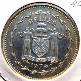 Белиз. 10 долларов 1974 г. 90 $