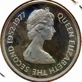 Фолклендские Острова. 50 пенсов 1977 г. 80 $