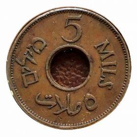 Палестина. 5 миль 1942 г. 11 $