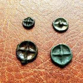 Истрия. Фракия. Монета - колесико. V в. до н.э.